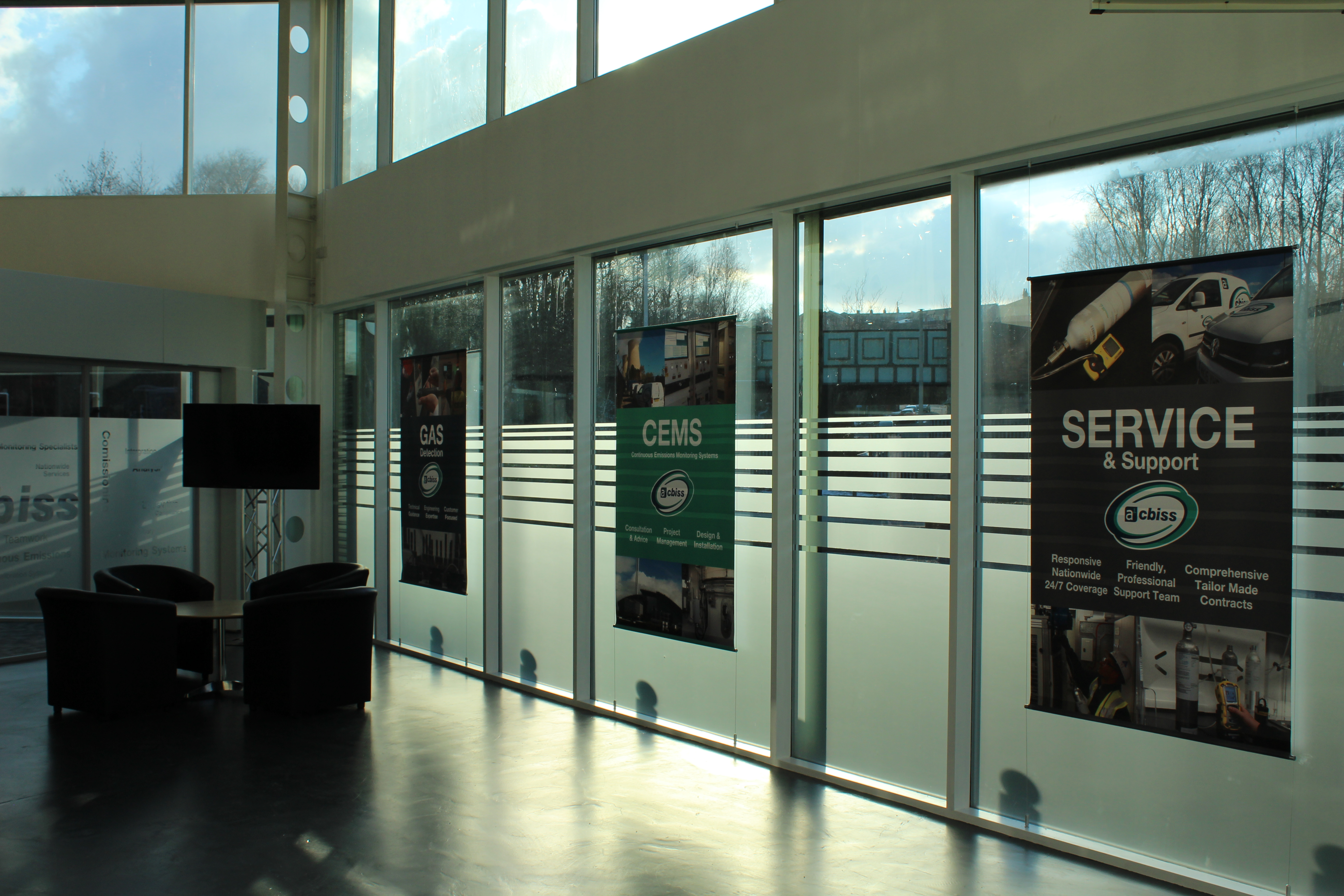 window banners, a1-cbiss banners, service banner, window graphics