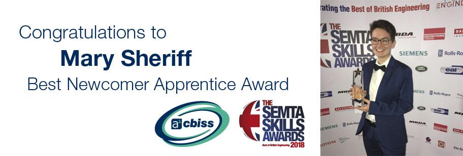 mary sheriff, semta awards, apprentice awards