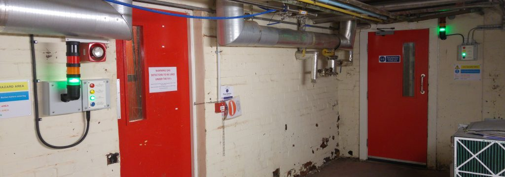 Safe-entry-system at brewery