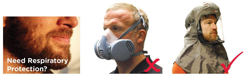 beard masks, face fit test