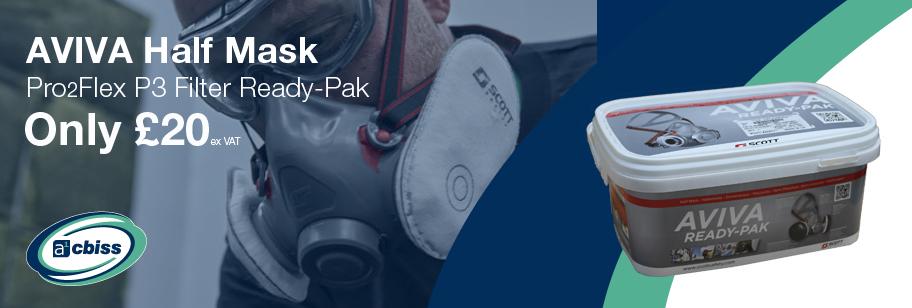 AVIVA2 P3 Half Mask Respirator Ready-Pak Offer