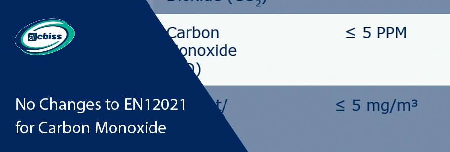 EN12021 - No Change to Carbon Monoxide Limits