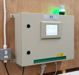 wall mounted refrigerant leak detection system