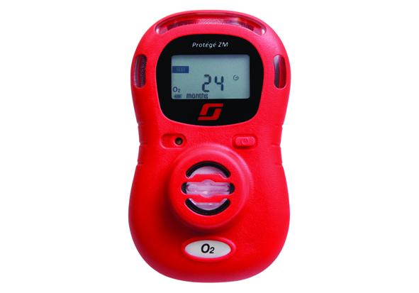 red Oxygen depletion monitor