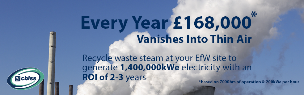 Harvest Waste Steam to Generate Electricity Worth £168,000 per Year!